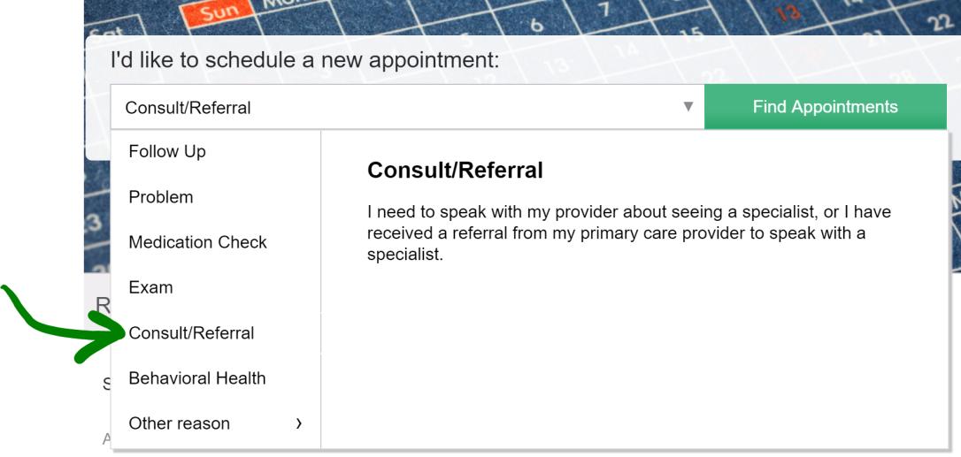 consult appt